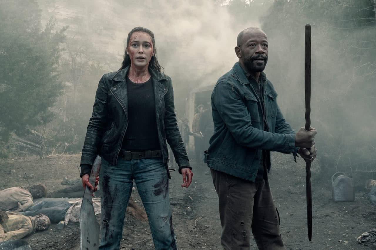 Alicia e Morgan em Fear The Walking Dead