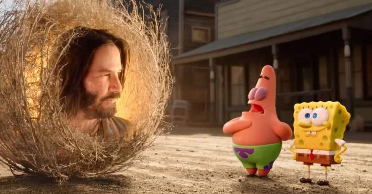 Cena da Bob Esponja: O Incrível Resgate (Reprodução / Nickelodeon)