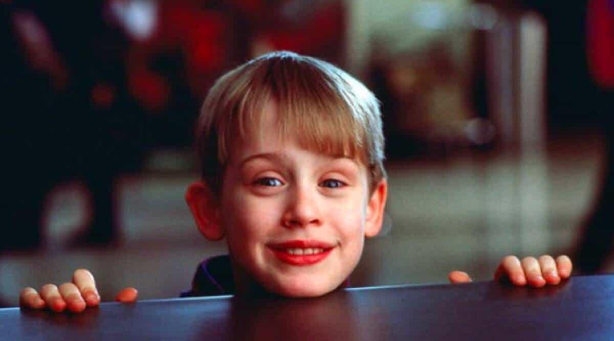 Kevin (Macaulay Culkin) em Esqueceram de Mim