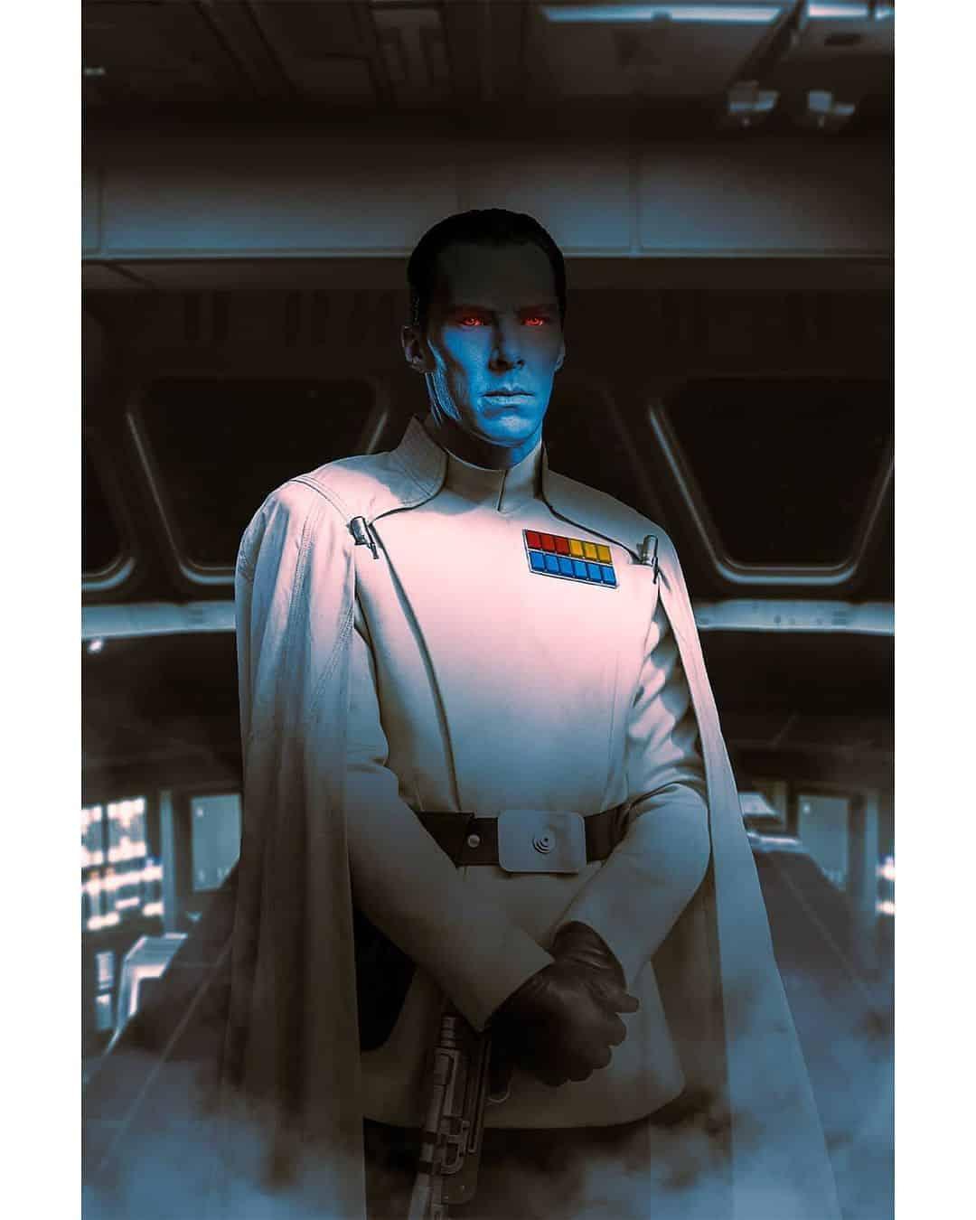 Benedict Cumberbatch como Almirante Thrawn em the mandalorian