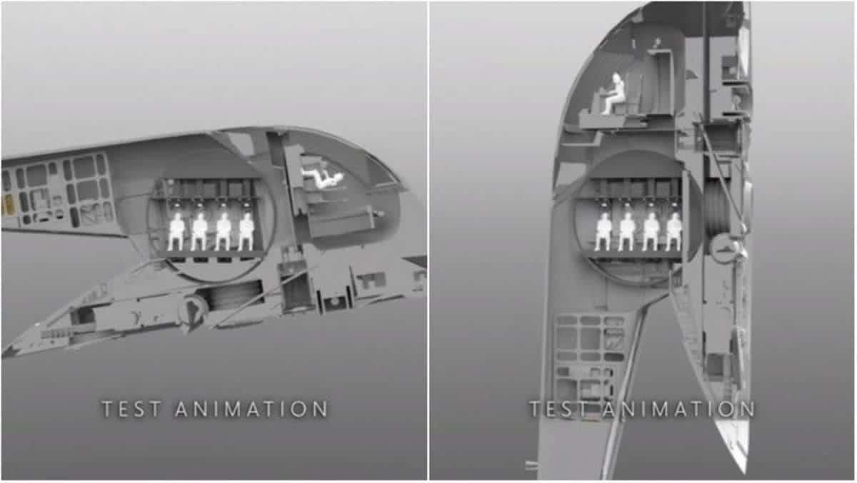 Teste de animação da nave do Boba Fett (Divulgação / Disney)