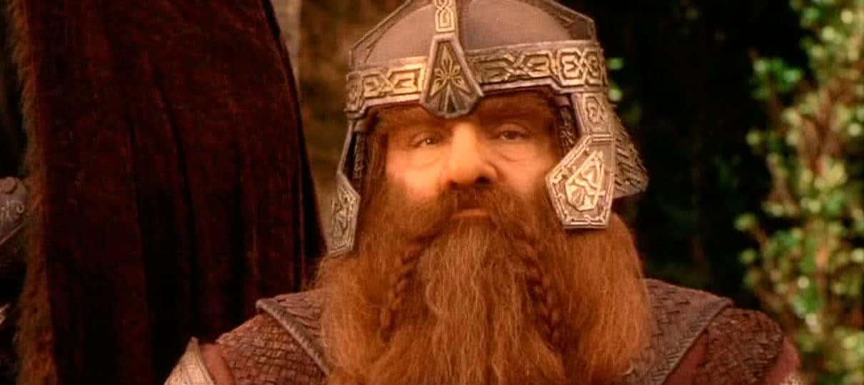 John Rhys-Davies como Gimli em O Senhor dos Anéis (Reprodução)
