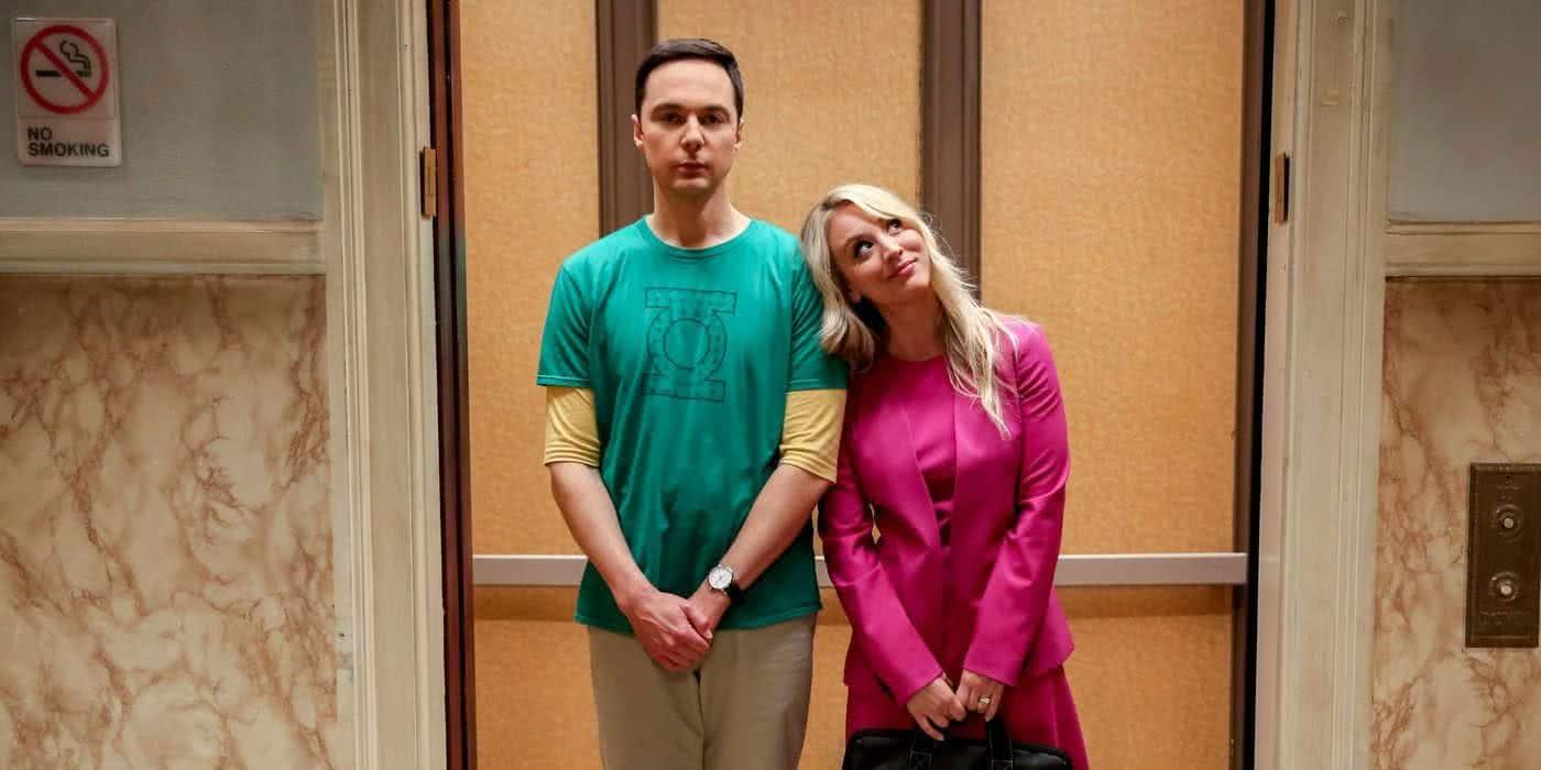 Jim Parsons e Kaley Cuoco em The Big Bang Theory (Divulgação)