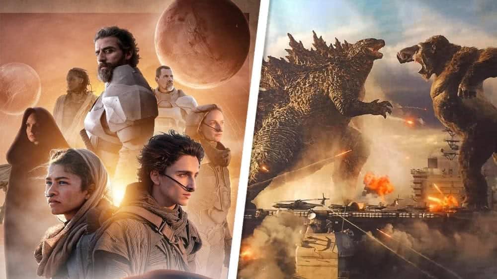 Duna e Godzilla (Divulgação/Warner)