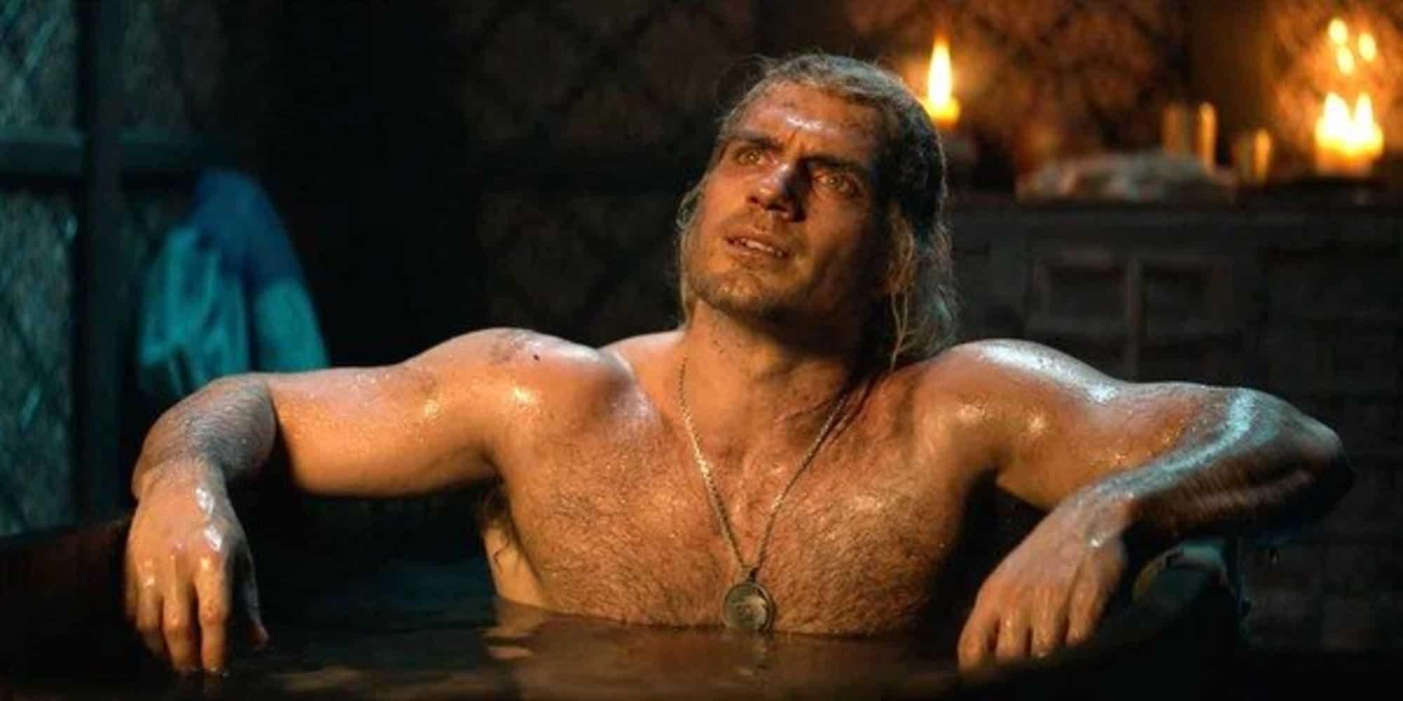 Geralt (Henry Cavill) em The Witcher (Reprodução)