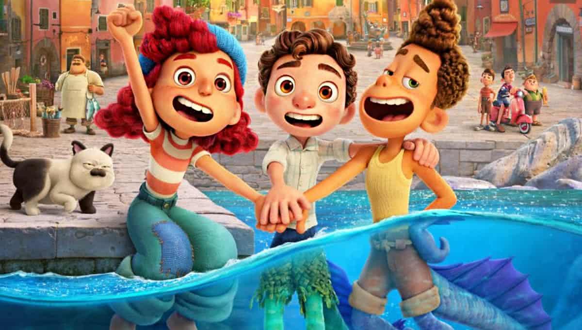 Giulia, Luca e Alberto em Luca (Divulgação / Pixar)