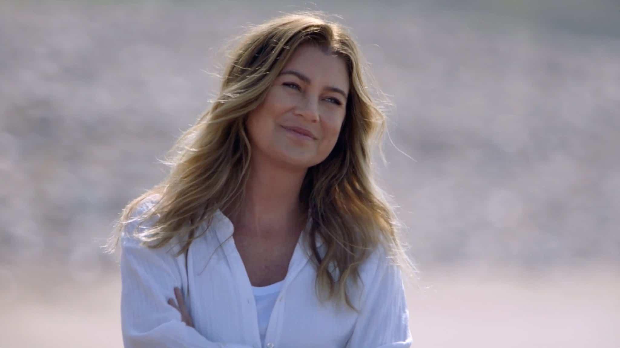 Ellen Pompeo como Meredith Grey em Grey's Anatomy