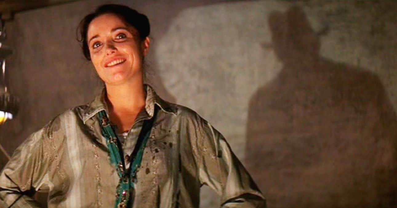 Marion (Karen Allen) em Os Caçadores da Arca Perdida (Divulgação)