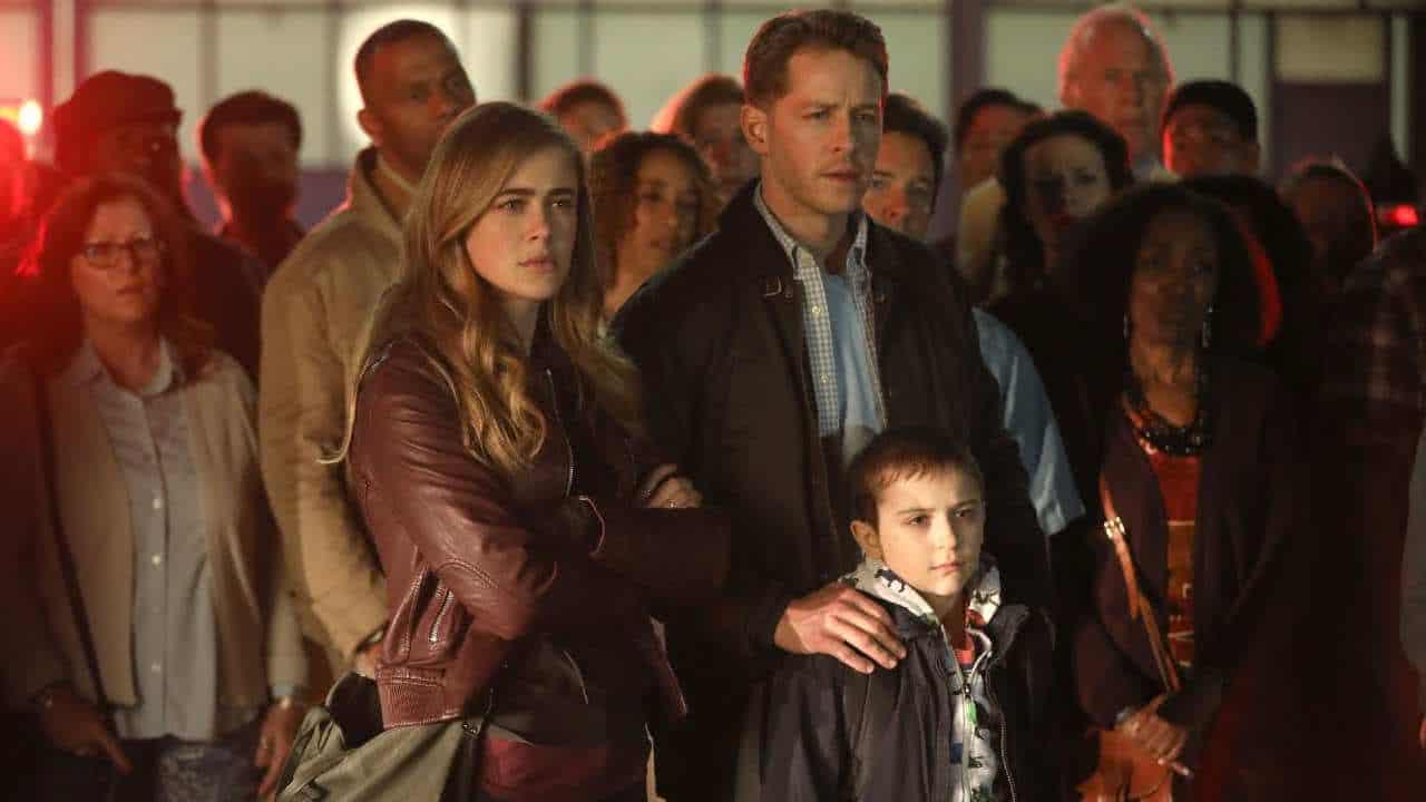 Melissa Roxburgh (Michaela), e Josh Dallas (Ben) em Manifest