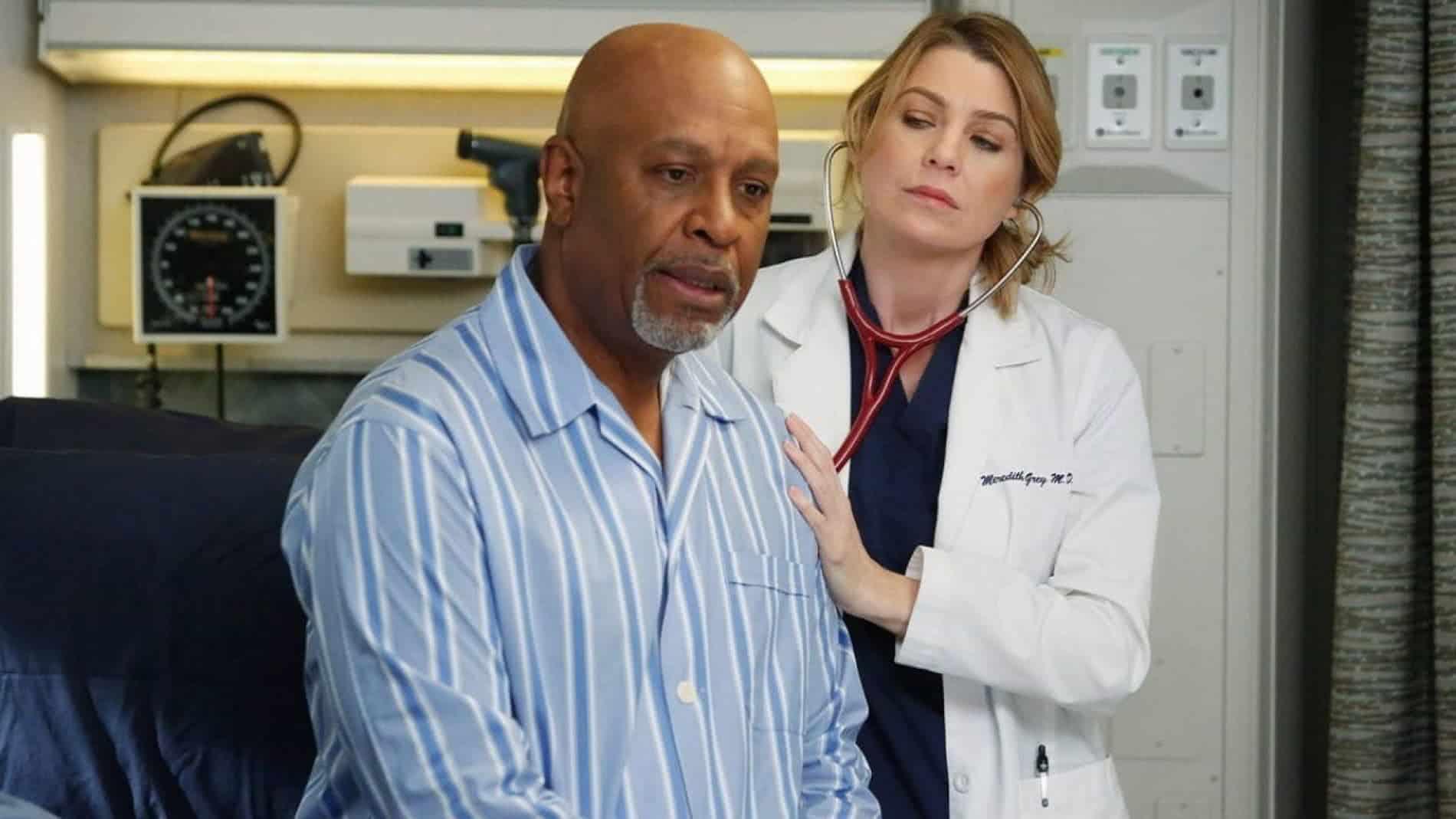 Meredith (Ellen Pompeo) e Richard (James Pickens Jr.) em Grey's Anatomy (Reprodução)