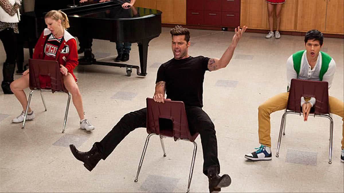 Ricky Martin em Glee (Reprodução)
