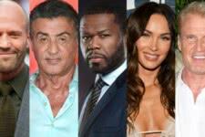 Jason Statham, Sylvester Stallone, 50 Cent, Megan Fox e Dolph Lundgren (Divulgação)
