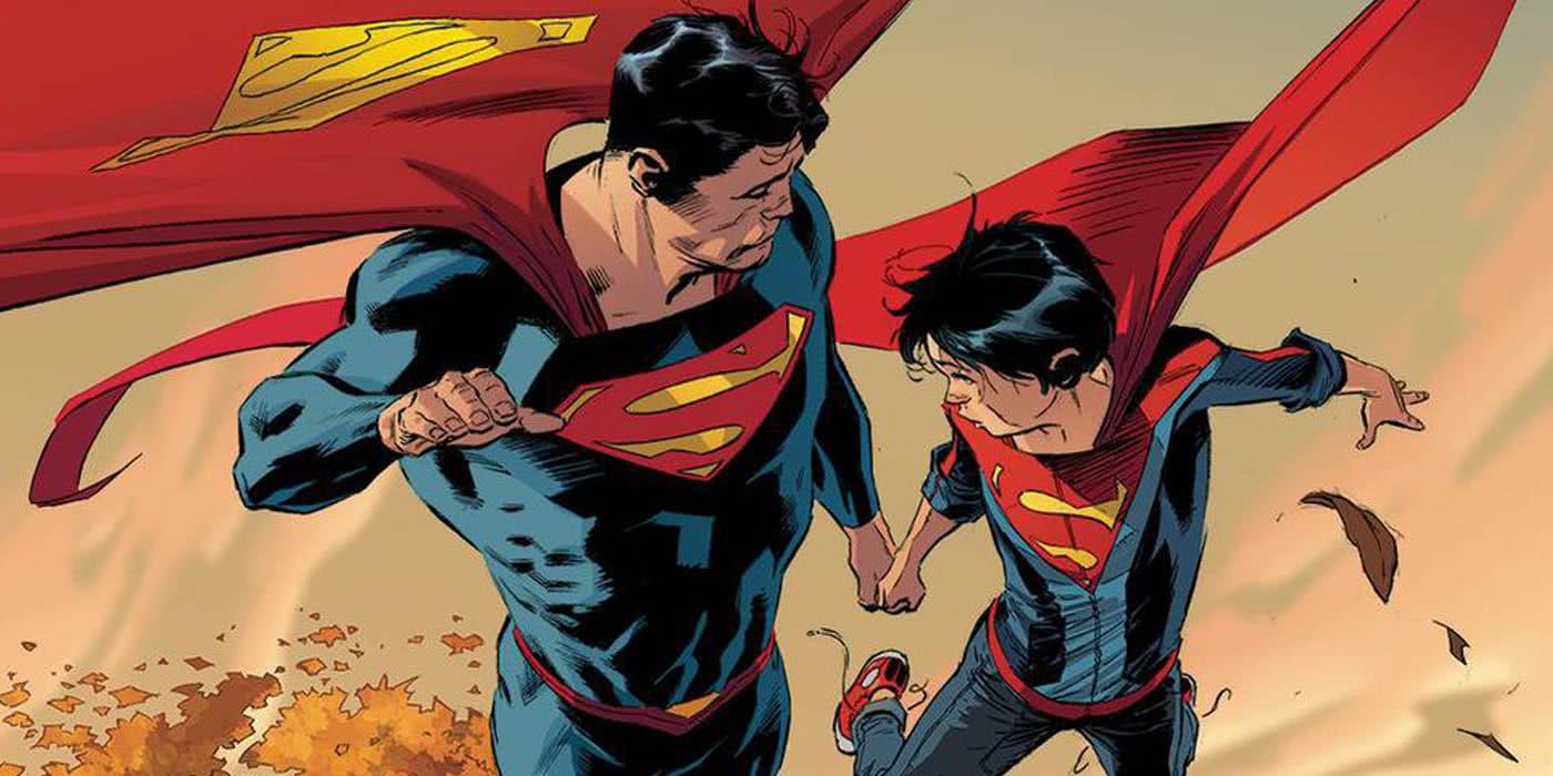 Superman e Superboy nos quadrinhos da DC (Reprodução)