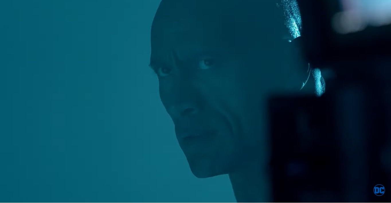 Adão Negro (Dwayne Johnson) em trailer do DC FanDome